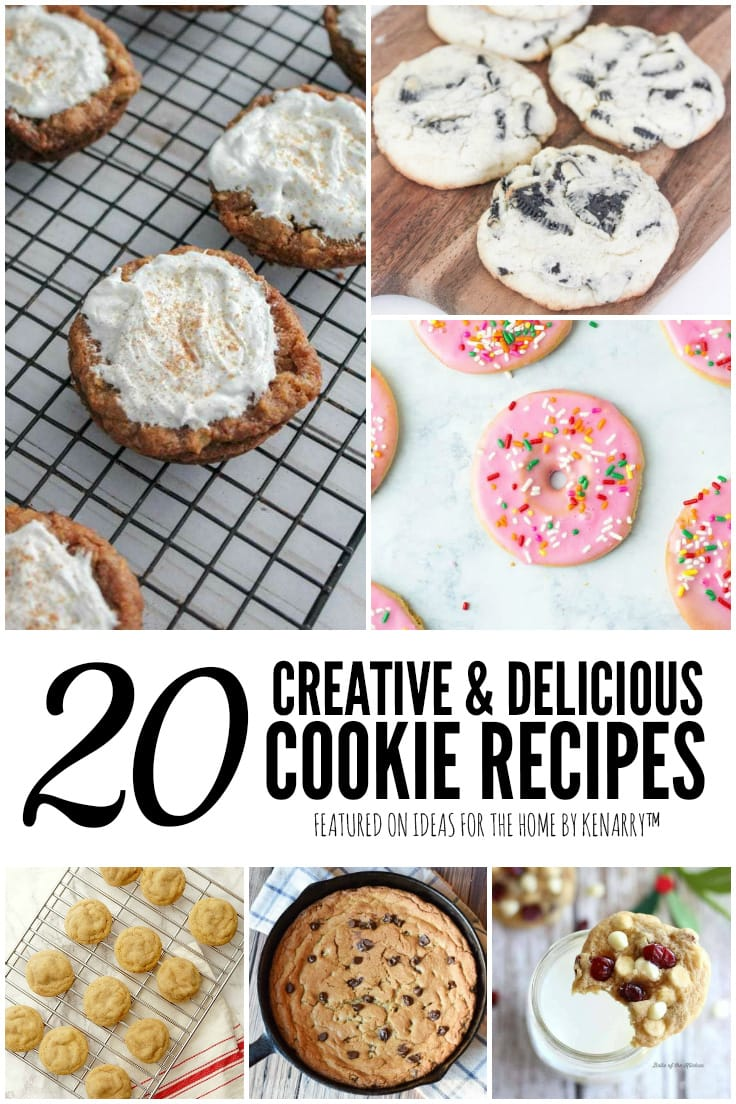 20 Creative and Delicious Cookie Recipes featured on Ideas for the Home by Kenarry
