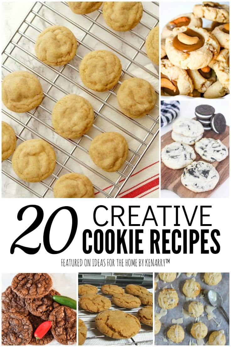 20 Creative Cookie Recipes featured on Ideas for the Home by Kenarry