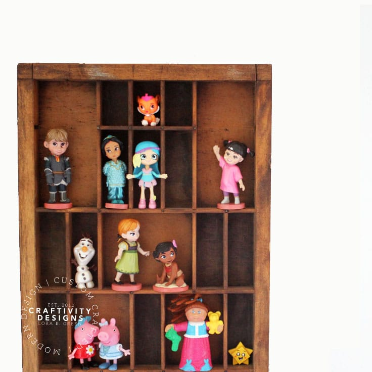 How to Display Figurines with a Letterpress Drawer