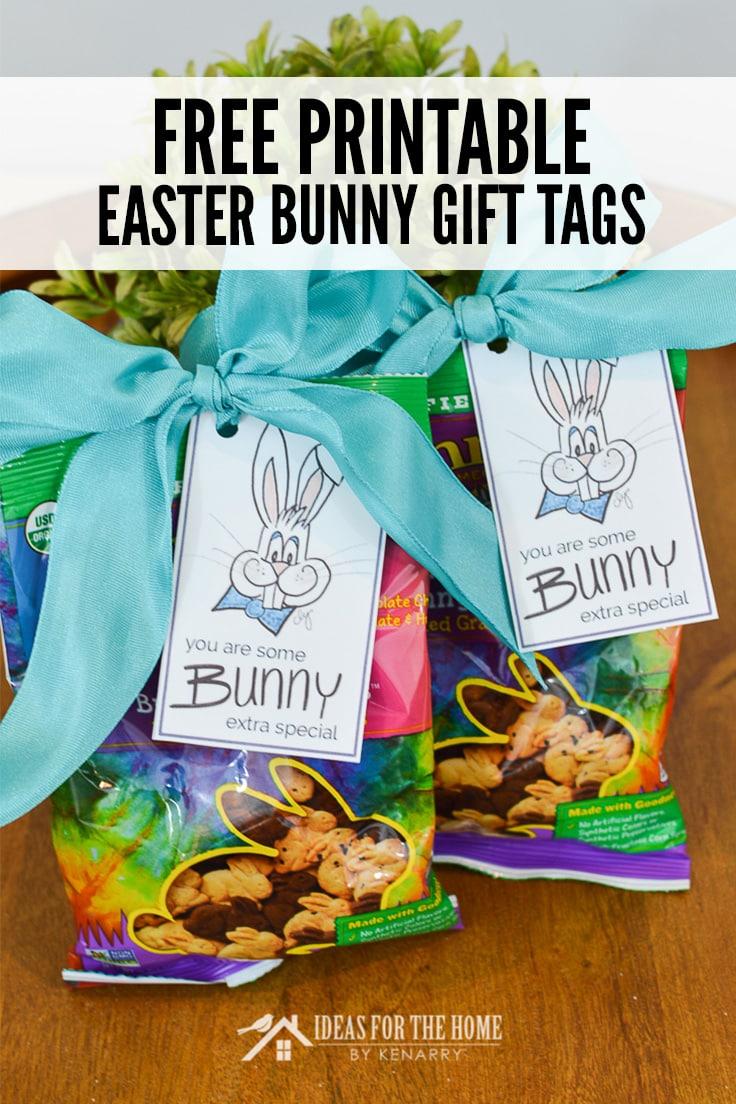 Free Printable Easter Bunny Gift Tags