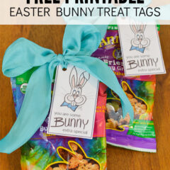 Free Printable Easter Bunny Treat Tags