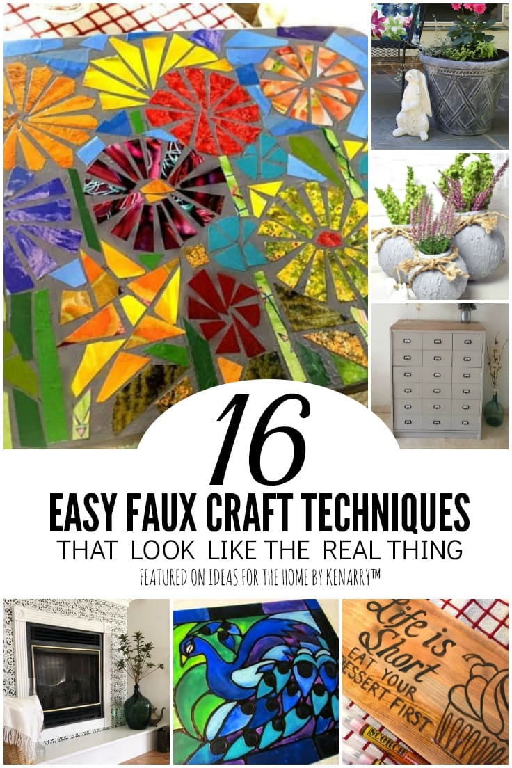 16 Easy Faux Craft Techniques That Look Like the Real Thing featured on Ideas for the Home by Kenarry