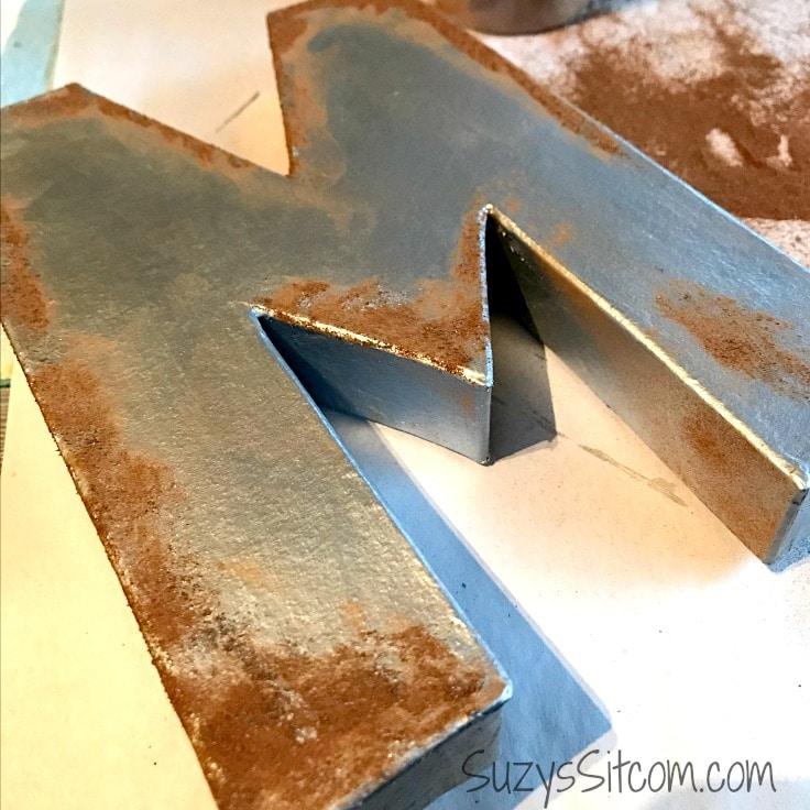 Easy Faux Rust Technique for Home Decor