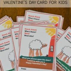 Sheep Knock Knock Joke Valentine's Day Card for Kids