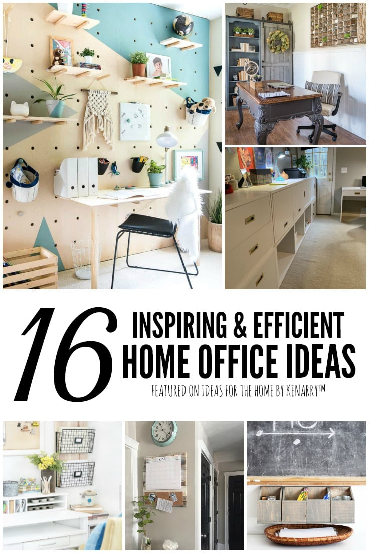 16 Inspiring and Efficient Home Office Ideas featured on Ideas for the Home by Kenarry