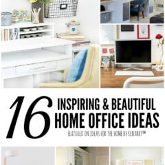 16 Inspiring and Beautiful Home Office Ideas featured on Ideas for the Home by Kenarry