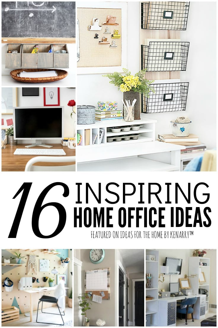 16 Inspiring Home Office Ideas featured on Ideas for the Home by Kenarry