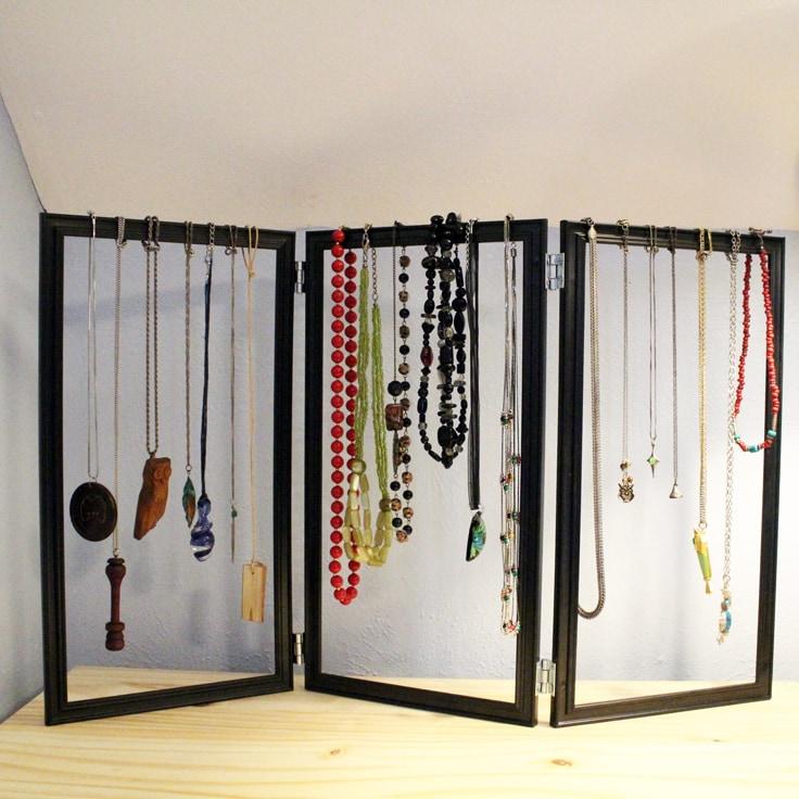 Jewelry Organizer DIY Dollar Store Hack
