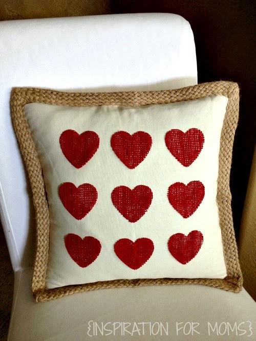 No-Sew Burlap Pillow