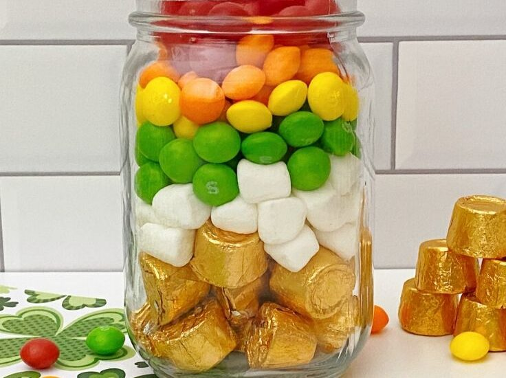 These Pot of Gold Rainbow Jars are a fun way to celebrate St. Patrick's Day and spring.