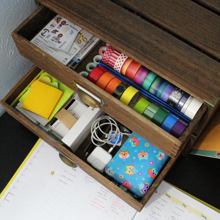 DIY Drawer Organizer for Planner Supplies