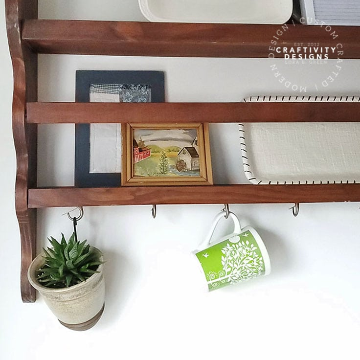 How to Hang Mugs Under Cabinets or Shelves