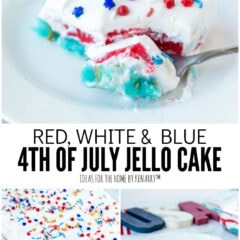 Red, White and Blue 4th of July Jello Cake