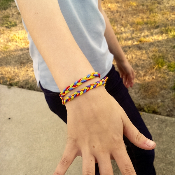 Rainbow Friendship Bracelet Kids Craft