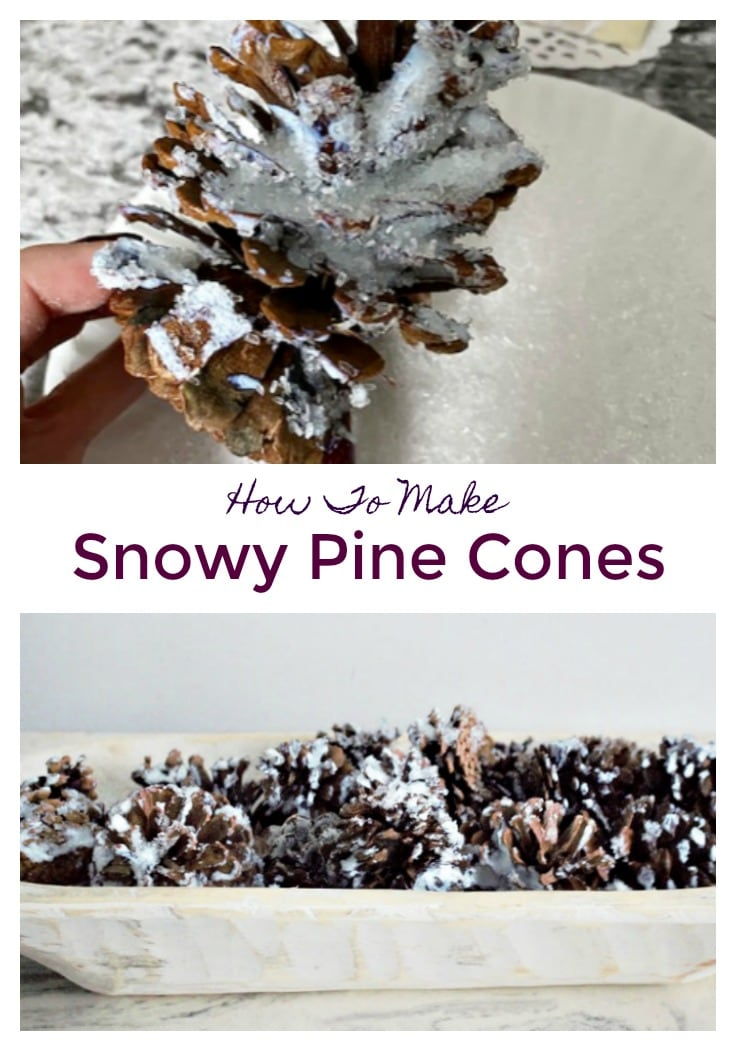 How to make Snowy Pine Cones