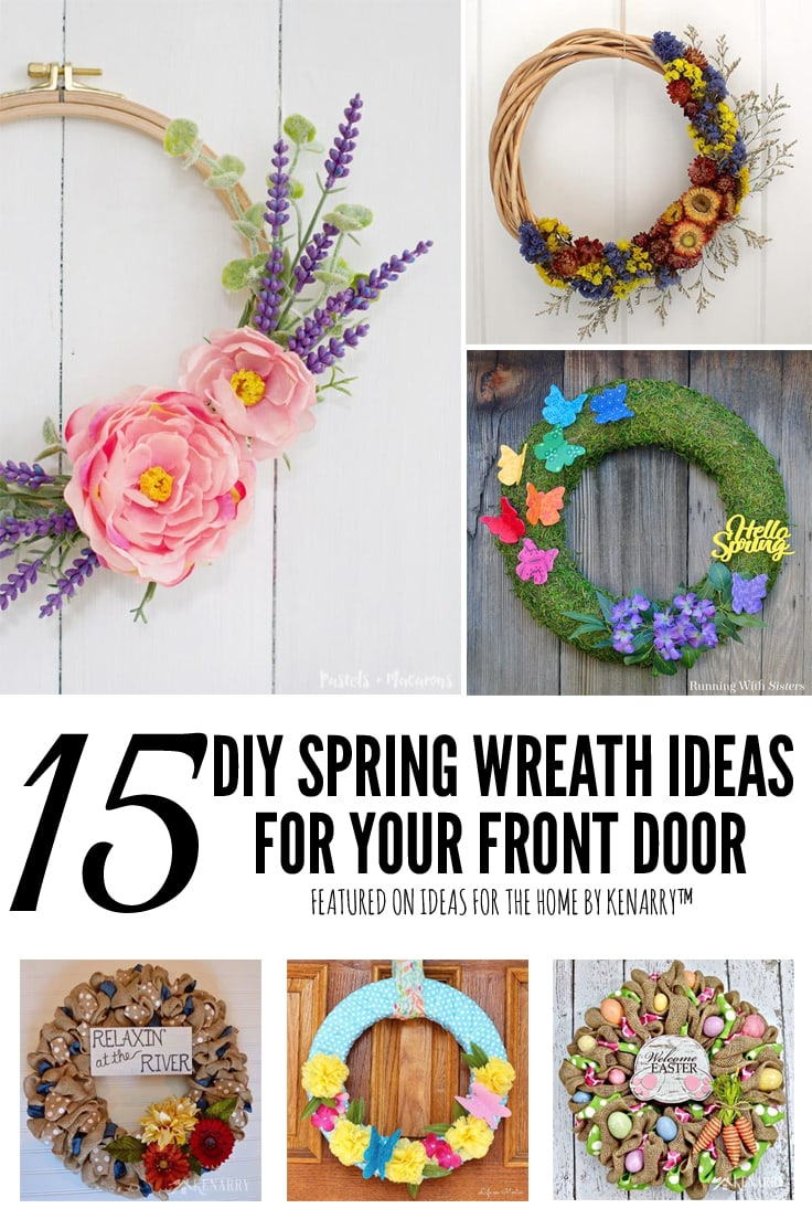 15 Diy Spring Wreath Ideas For Your Front Door Ideas For The Home