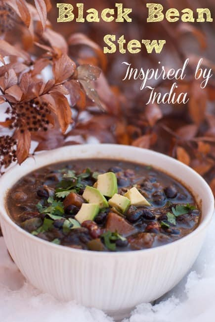 Black Bean Stew - Inspired by India