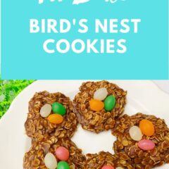 I'm sure you've had the classic version of the no bake cookie, but have you ever made them into cute little bird's nests, prefect for Easter?