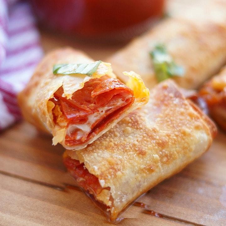 Pepperoni Pizza Egg Rolls: Air Fryer Recipe