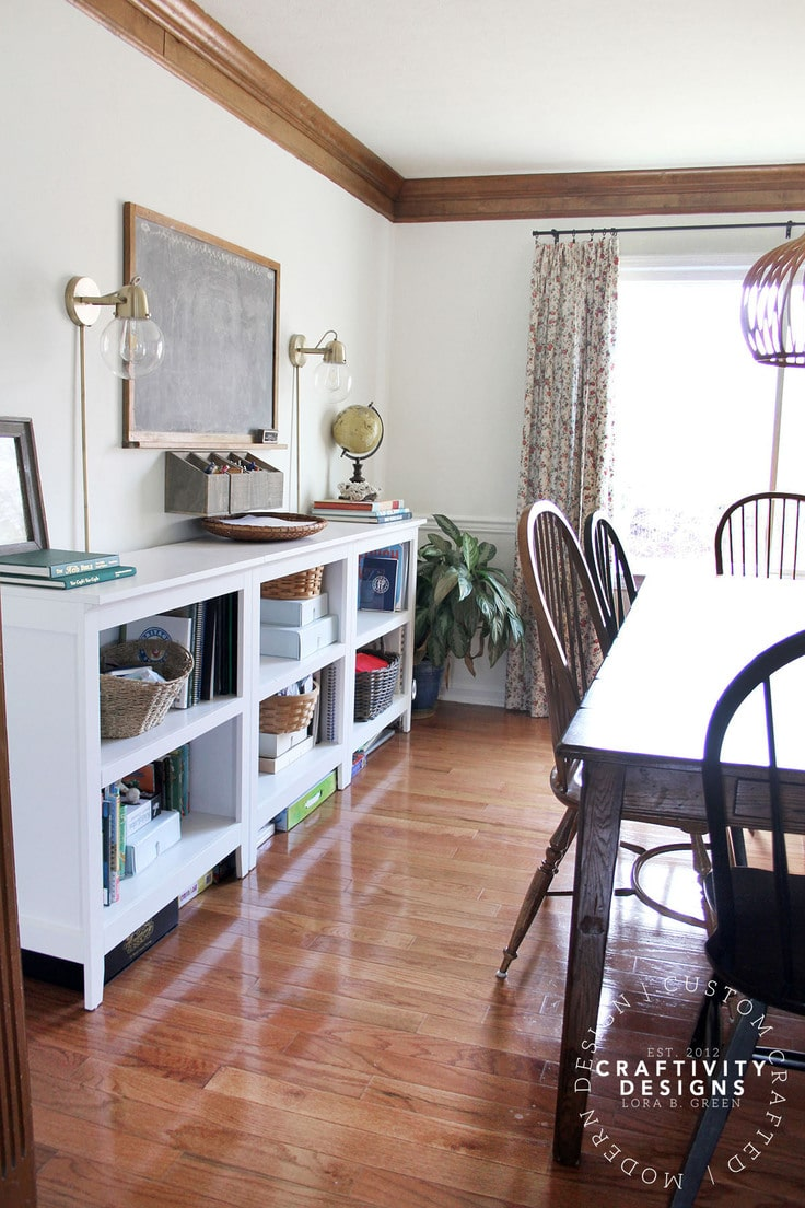 How to Brighten a Dark Dining Room (photos by Craftivity Designs)