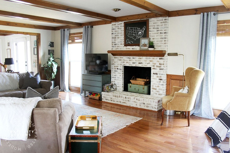 How to Brighten a Dark Living Room (photos by Craftivity Designs)