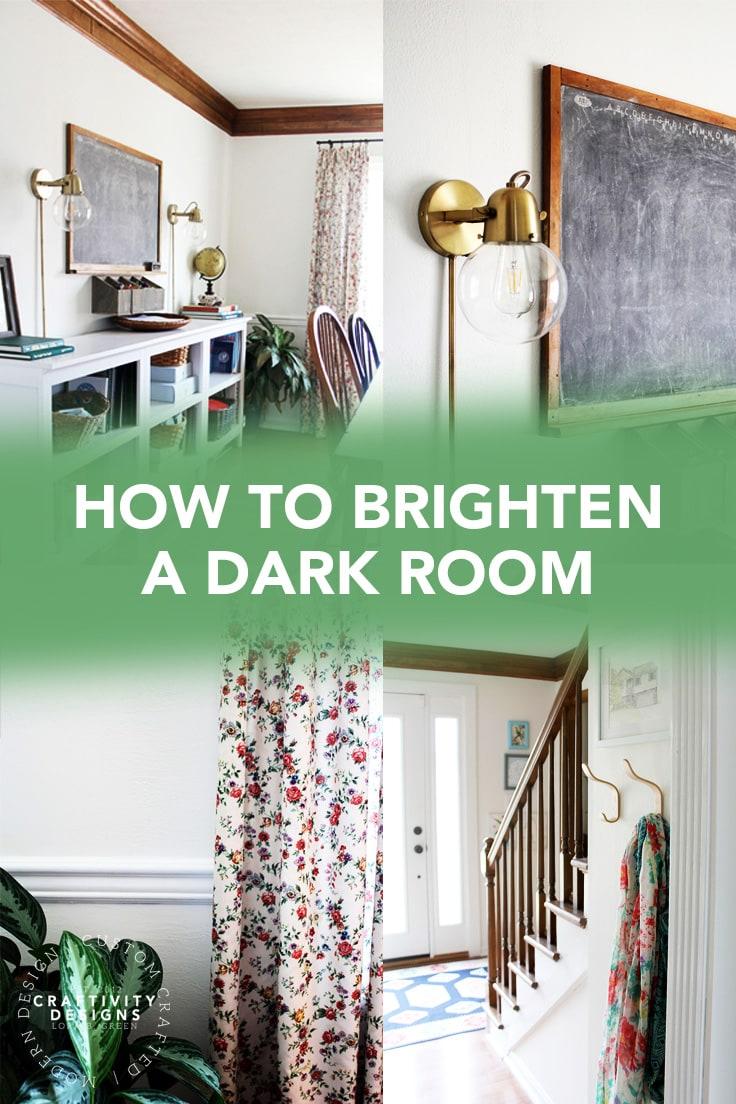 How to Brighten a Dark Room (photos by Craftivity Designs)