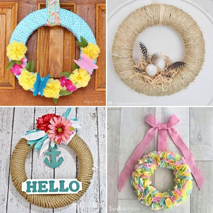 15 DIY Spring Wreath Ideas For Your Front Door