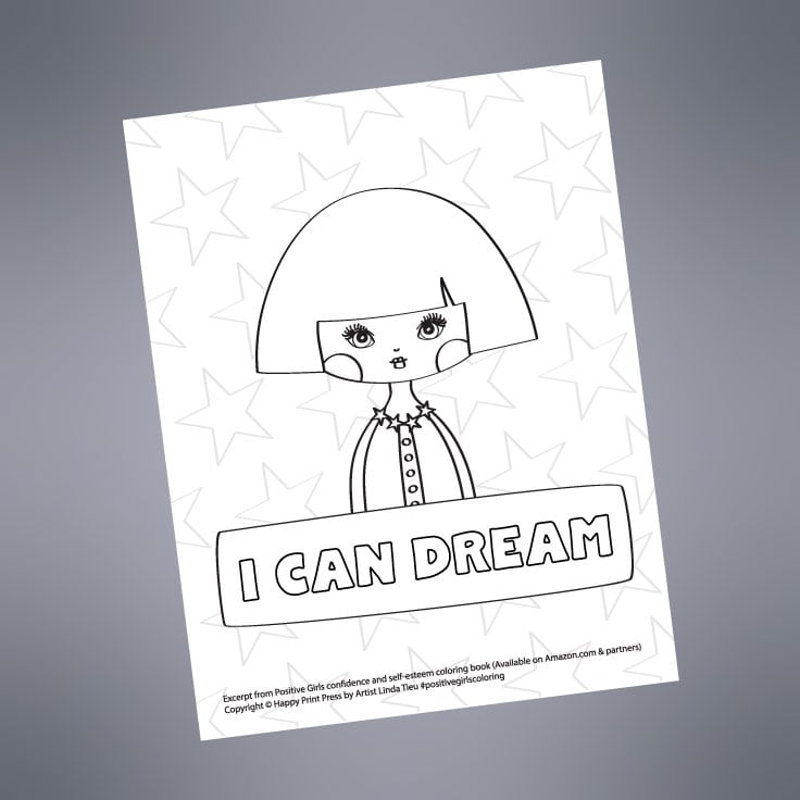 Preview of I Can Dream printable page