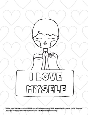 Preview of I love myself free printable