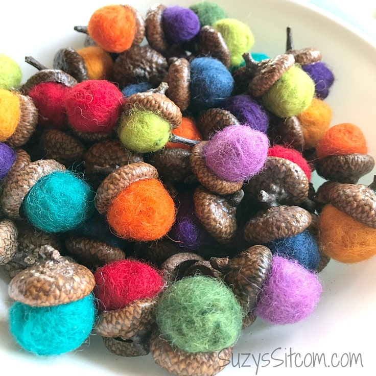 Nature Crafts: How to Make Felted Acorns