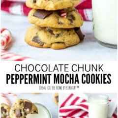 Chocolate Chunk Peppermint Mocha Cookies