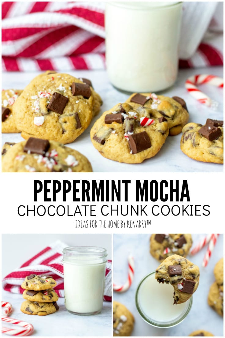 Peppermint Mocha Chocolate Chunk Cookies