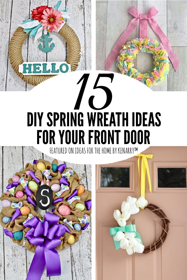 15 DIY Spring Wreath Ideas For Your Front Door