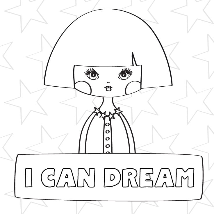 Coloring Page For Girls + Free Printable