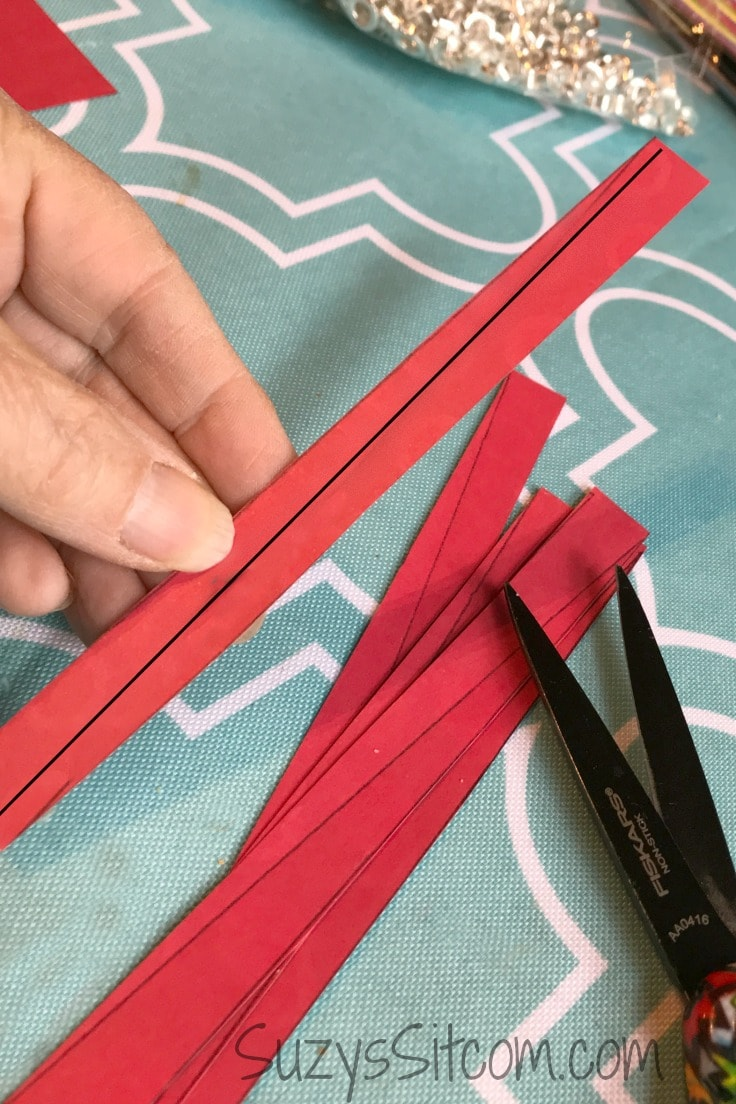 Red strips of paper