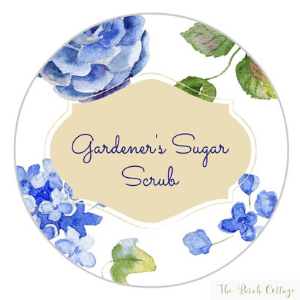Gardener's Sugar Hand Scrub Labels by The Birch Cottage