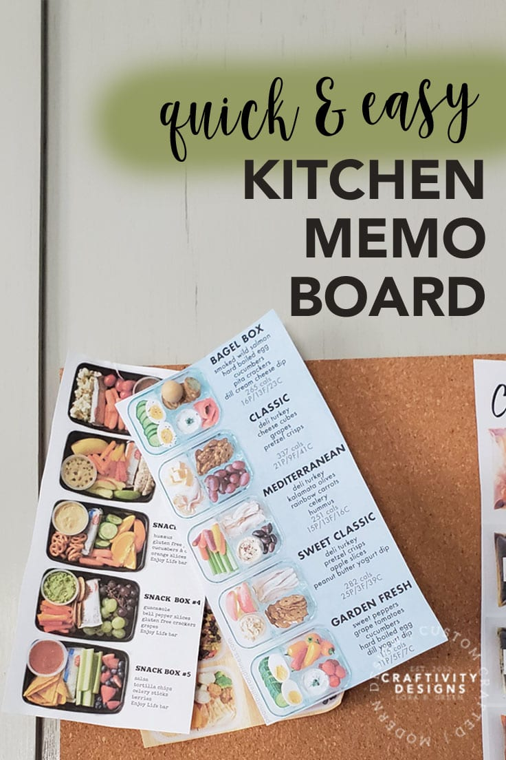 How to Make a Quick and Easy Kitchen Memo Board by Craftivity Designs
