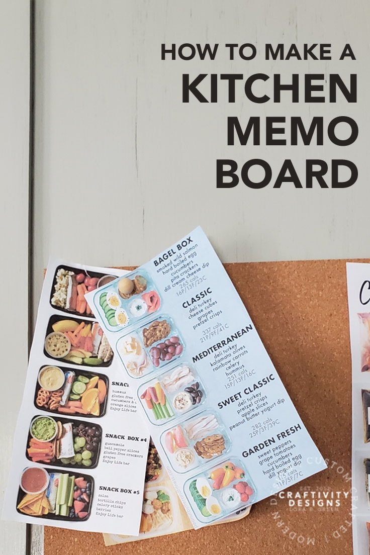 How to Make a Kitchen Memo Board by Craftivity Designs