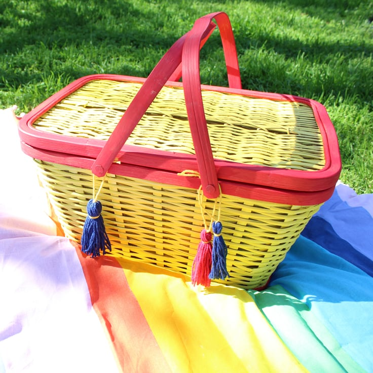 Painted Picnic Basket Makeover