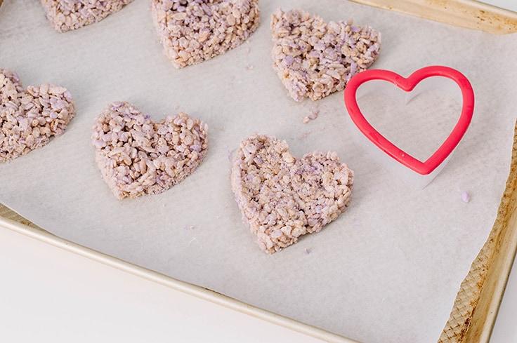 Heart-Shaped Rice Cereal Treats