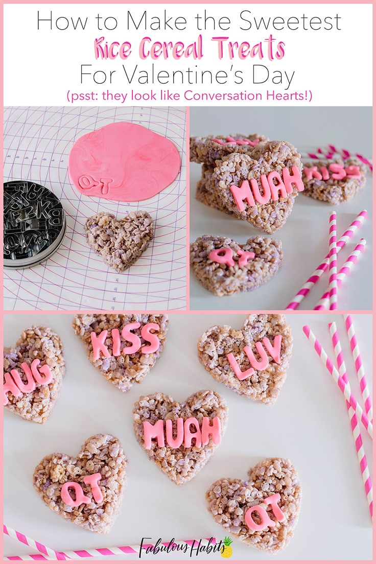 These Conversation Hearts Rice Cereal Treats are the perfect dessert to celebrate the world's most romantic holiday!