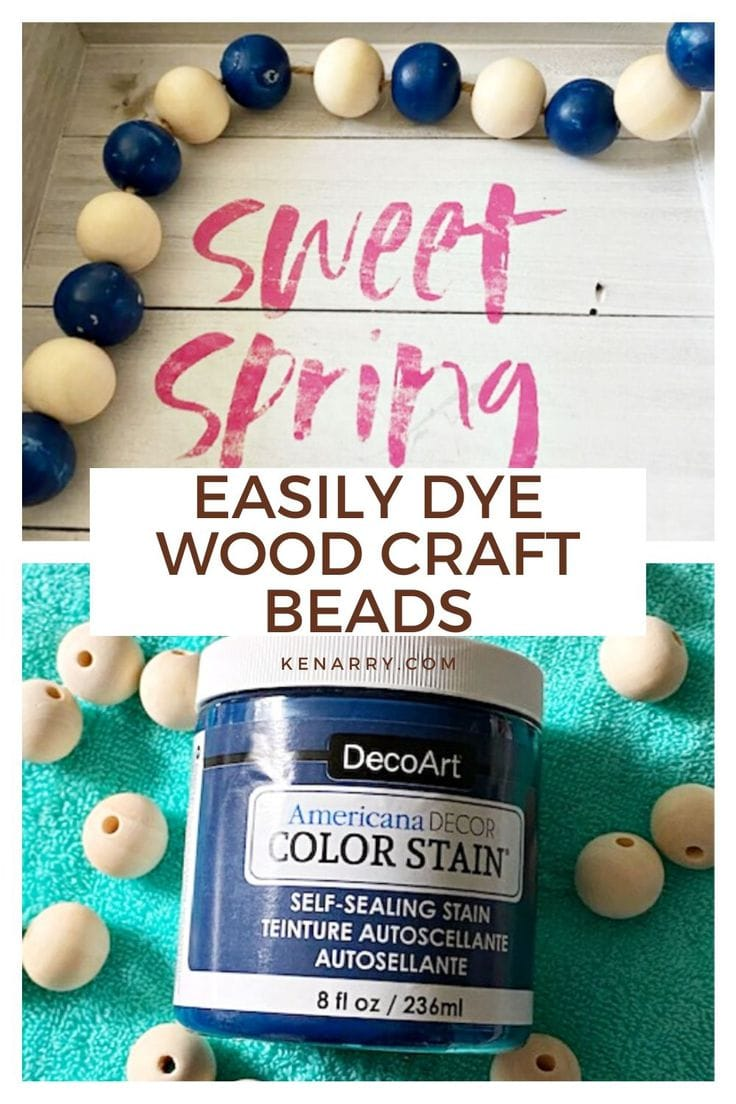 easily dye wood craft beads