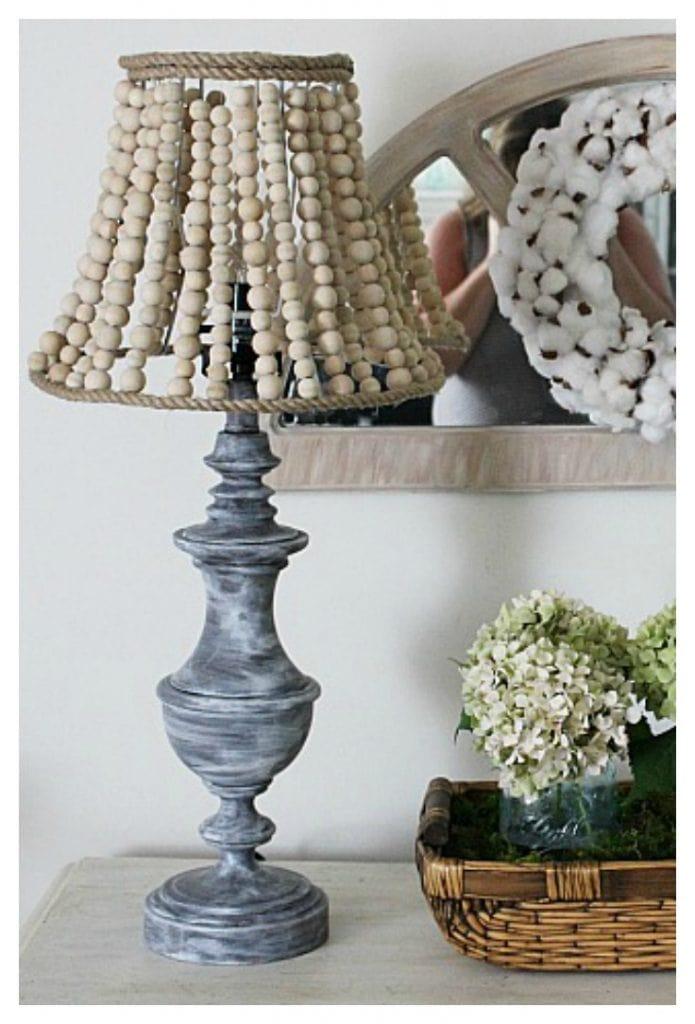 wood bead lamp shade