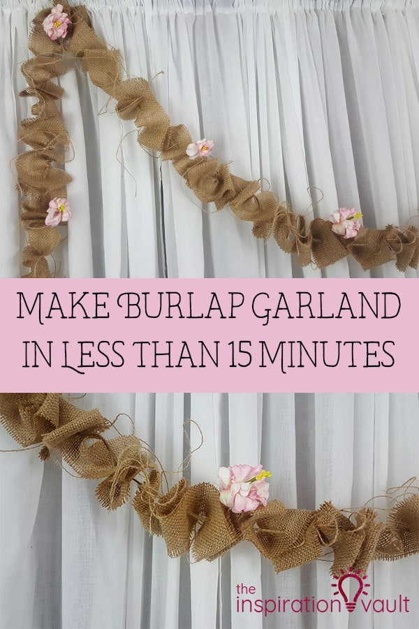 How to make burlap garland in less than 15 minutes