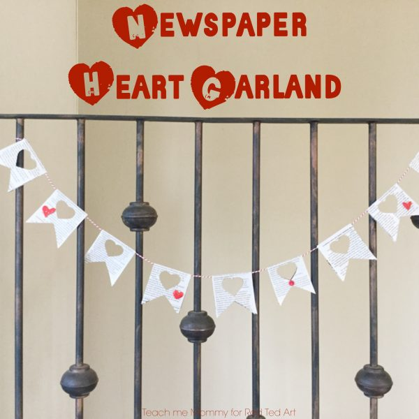a newspaper heart garland