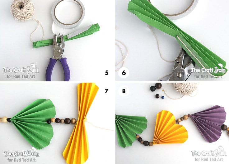 how to make a beaded fan garland