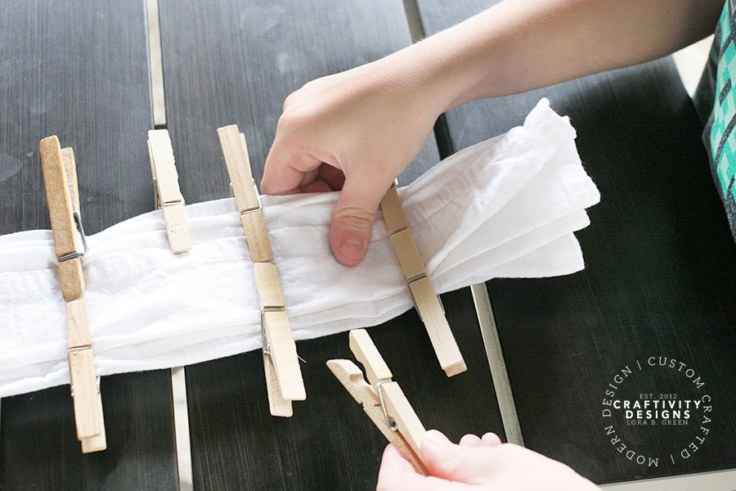 Shibori clothespin technique by Craftivity Designs