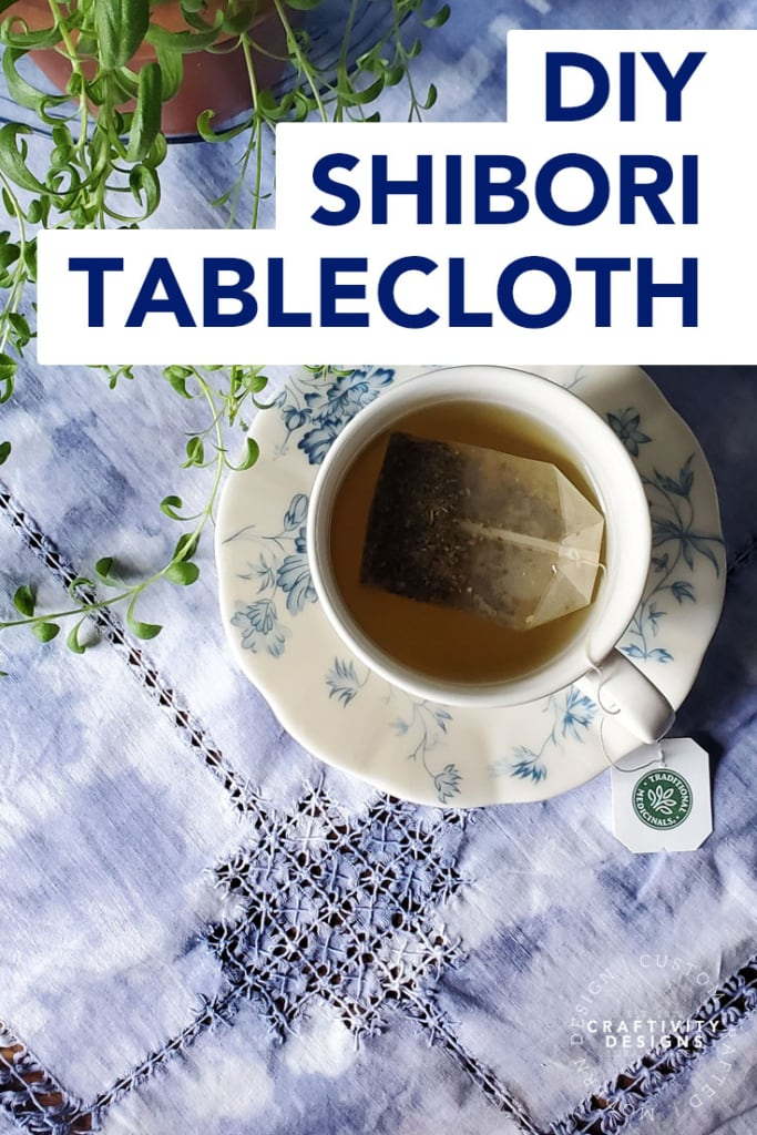 DIY Shibori Tablecloth by Craftivity Designs
