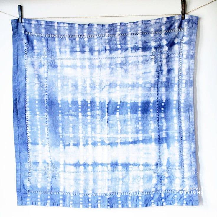 How to Make a DIY Shibori Tablecloth
