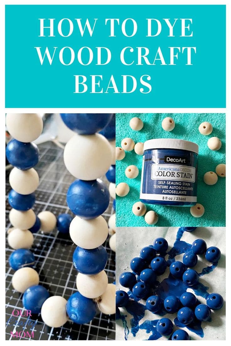 how to dye wood craft beads